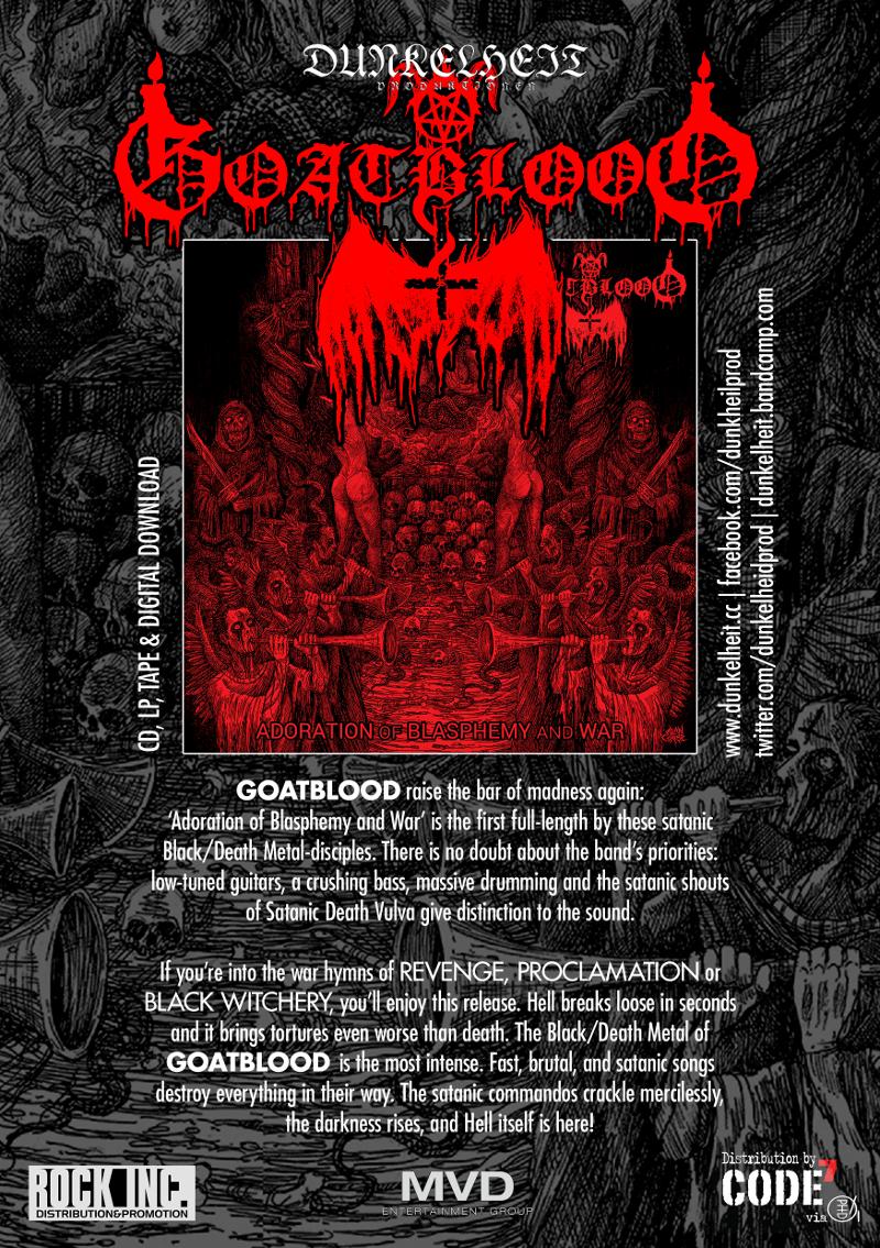 Dunkelheit Produktionen | Goatblood - Adoration of Blasphemy and War
